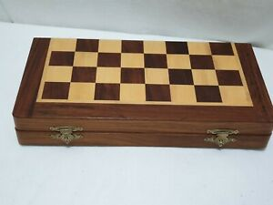 Wooden Storage Box 25 cm x 12.5 cm X 4 CM  Hand Carved  Intricate unusual