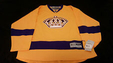 Official Reebok Los Angeles Kings Gold Third Jersey size XL  !
