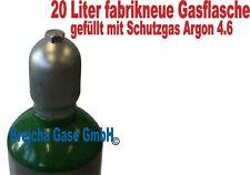 Gasflasche 20 Liter ARGON 4.6 Schweißgas WIG  MIG-MAG Schutzgas regeneriert