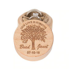 Wooden Ring Bearer Box Personalized Wedding Valentines Engagement Accessories