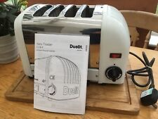 Dualit Classic Toaster 4 Slice, White, Refurbished, PAT Tested, 3 Mth Guarantee