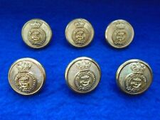 6 X VICTORIAN PACIFIC STEAM NAVIGATION COMPANY OFFICERS GILT 24MM BUTTONS, GAUNT