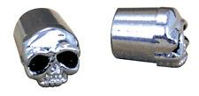 Zodiac 011485 Skull Valve Stem Caps CHROME PAIR Suit Most Standard Tyre Valves
