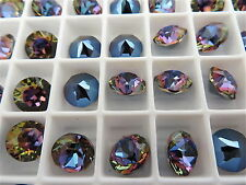 6 Bermuda Blue Swarovski Crystal Chaton Stone 1088 39ss 8mm