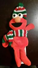 "1997 Applause Elmo 7"" Plush with Winter Scarf and Hat Used"