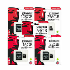 Kingston 8GB 16GB 32GB 64GB 80MB/S MicroSD SDHC Tf Memory Card Uhs-I Class10 New