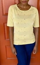 Colourworks Yellow Sweater with Multi Colored Specks Size Medium