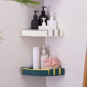 1Pcs Bathroom Kitchen Shower Shelf Triangular Wall Corner Rack Organizer Holder