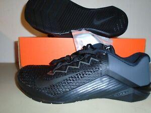 New Nike Metcon  6 Black Anthracite Training Shoes sz 9.5