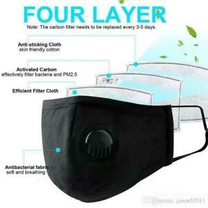 Cotton Face Masks - 4 Layer Breathable Filter, Washable & Reusable Face Masks
