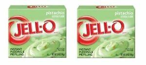 Jell-O Pistachio Instant Pudding Dessert Mix 2 Box Pack
