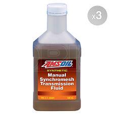 Amsoil Manual Synchromesh Transmission Fluid MTF - 3 x 1 US Quart - 2.82 Litres