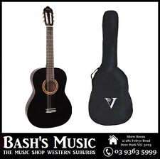 Valencia 3/4 Size Guitar and Bag Pack Beginners Guitar Black NEW