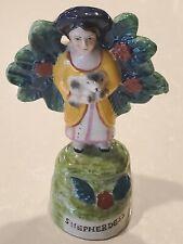 SPW Vtg Shepherdess Figurine w Bocage Foliage