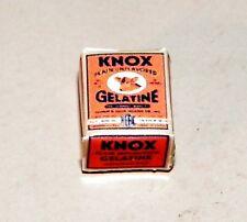 Dollhouse Miniatures, Knox Gelatin