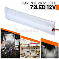 C12V 72 LE Interior Strip Light Bar Car Van Caravan Trailer On/Off Switch F