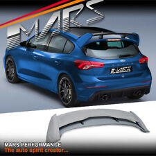 RS Style unpainted Plastic Trunk Spoiler Wing for Ford Focus SA Hatch 2018-2020