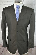 ALBERT NIPON Mens Brown Pinstripe WOOL & SILK Blazer Sport Coat Jacket SIZE 40R