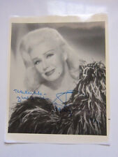 GINGER ROGERS  8x10 Photo  AUTOGRAPHED