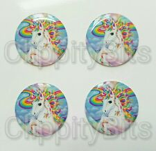 "4 x 1"" Inch 25mm Bottle Cap Images Cabochons Resins Epoxy Dome Unicorn Caps"