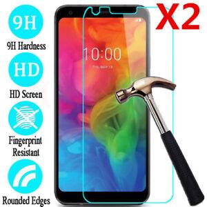 For LG G4 G5 G6 G7 Q6 Q7 Q8 Transparent Tempered Glass Screen Protector Film 2pc