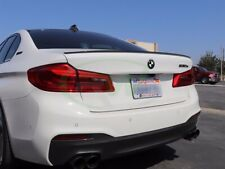 BMW G30 PAINTED GLOSS BLACK 5 Series 2017 + M5 Style Boot Lip Spoiler wing trim