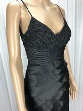 ** MR K ** AS NEW *  Sz 8 Black Womens LBD Cocktail Occasion Tier Dress - (B229)