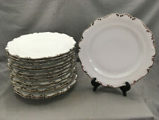 Platinum Elegance Dinner Plate by Schumann Arzberg Bavaria China Scalloped