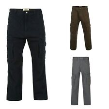 Mens Kam Big Plus Size Cotton Twill Relaxed Fit Combat Cargo Pants Trousers Size