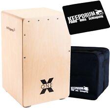 Schlagwerk CP 101 Cajon X-One Nature + KEEPDRUM Bag + Pad CP-01