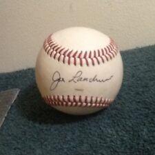 JOE LANDRUM SIGNED AUTOGRAPHED BASEBALL 1950-52 Brooklyn Dodgers Coastal Plains