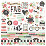 Simple Stories BLOOM Collection 12x12 cardstock stickers combo #10048