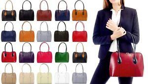 Handbag Bliss Luxury Italian Smooth Leather Handbag Shoulder Bag Vera Pelle