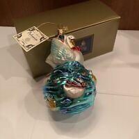 Polonaise Kurt S. Adler Komozja Seven Swans Swimming Christmas Glass Ornament