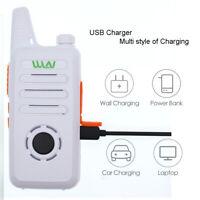 WLN KD-C1PLUS White UHF 400-470 MHz MINI Two Way Radio Transceiver Communicator