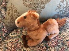 "Vtg Stuffed Plush Brown Pony Horse Foal Dakin 1980 9"" Ground Shells Korea #A5"