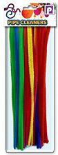 50 X 30cm Color LIMPIADORES DE PIPA CHENILLE palos 7 varios colores Art Craft