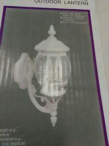 """Bel Air  Lighting 55050 WH  Cast Aluminum  Outdoor Lantern 201/2""""H, 1LIGHT(#19A"""