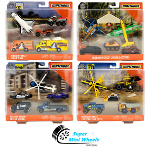 Matchbox 2020 Mission Force Story Packs B Case 4 Piece Sets in a Factory-Sealed