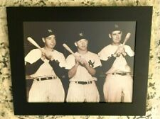 MICKEY MANTLE,JOE DiMAGGIO & TED WILLIAMS 11x14 PHOTO FRAMED NY YANKEES RED SOX