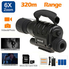 IR Infrared Night Vision Monoculars Scope 320m 4G Zoom Record+CR123A Battery Kit