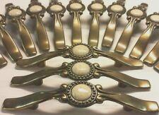"30 BRASS 5"" lot Drawer Cabinet Pulls Knobs  Salvage vtg dressers patina door"