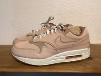 Womens Nike Air Max 1 PRM Leather Sneakers Particle Beige Pink Sz 8.5 454746-206