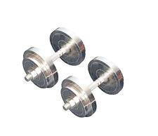 Protoner 20 Kg Weight Lifting Adjustable Steel Dumbbells Home Gym Fitness