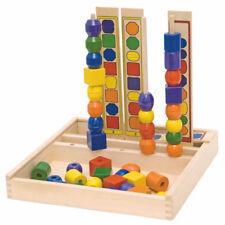 SORTIERSPIEL KLEINKINDER HOLZ Steckspiel Kinder Logikspiel Lernspiel Holz  90469