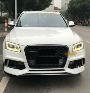 Front Mesh Grille Grill for Audi Q5 8R & SQ5 SUV 2013-16 RSQ5 Style Full Black