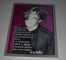As If  Magazine #3 1994 Death in June poppy z brite goth gothic