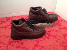 MENS 9 M RJ COLT BROWN LEATHER  LACE BOOTS Nice pre-owned