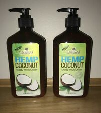 Malibu Hemp LOT OF 2  HEMP COCONUT Body Moisturizer   18 oz. Pump Bottles
