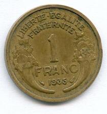 TOP RARE MONNAIE DE 1 FRANC MORLON BRONZE ALU DE 1935 @ LA + RARE @ RARETE TOP